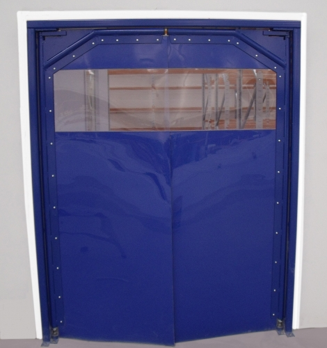 Blue Crash Door