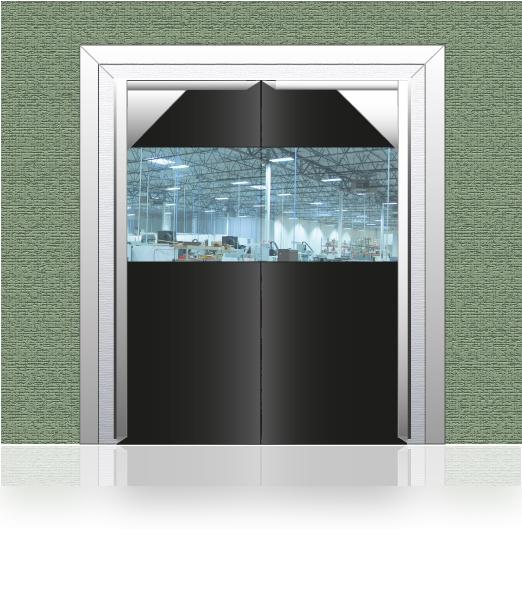Pvc Panel Doors : Pvc crash doors and flexible rubber swing uk arrow